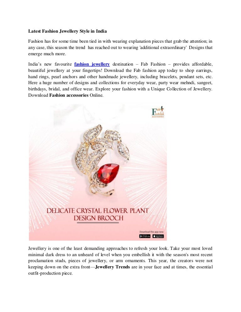 0eba9a7c0c Latest fashion jewellery style trends in india