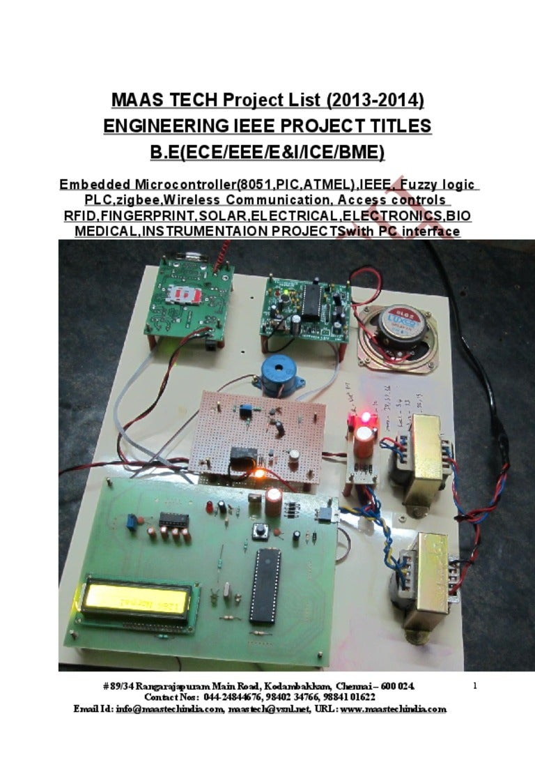Latest ieee projects titles&embedded projects titles chennai maastech