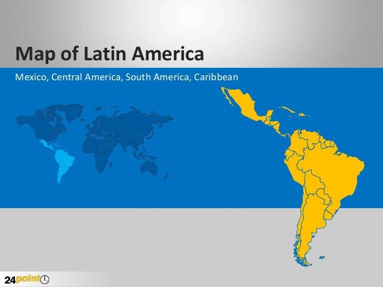 Latin America PowerPoint Map