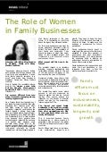The Role of Women in Family Businesses - Elaine King, news release