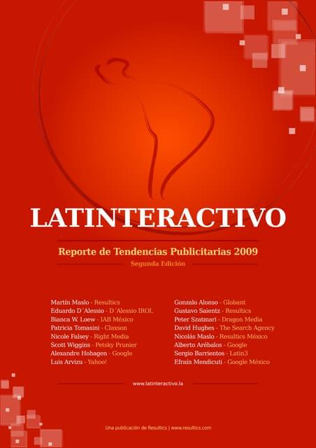 Latinteractivo 2009 Tendencias Publicitarias Latinoamerica 2009