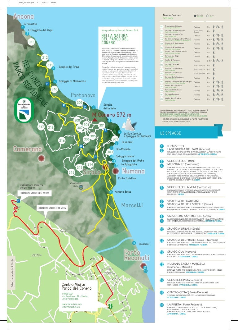 Cartina Marche Conero.Riviera Del Conero