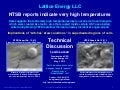 Lattice Energy LLC- Technical Discussion-NTSB Logan Dreamliner Runaway Data Suggest High Local Temps-May 7 2013