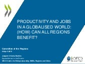 Launch OECD report on Productivity and jobs in a globalised world
