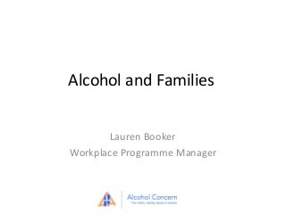 alcohol recovery for families
