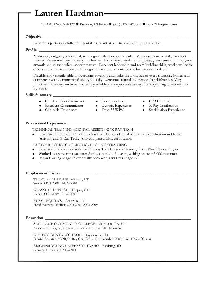 Dentist Resume Samples   Visualcv Resume Samples Database. Sample