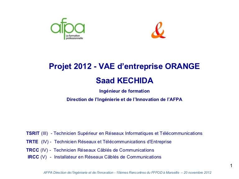 La Vae D Entreprise Orange Afpa