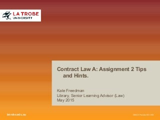 LAW2CTA- Assignment 2 Tips and Hints