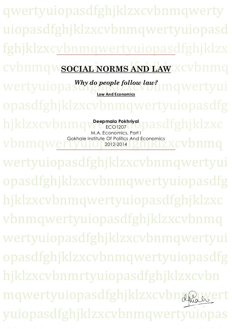 social norms and law