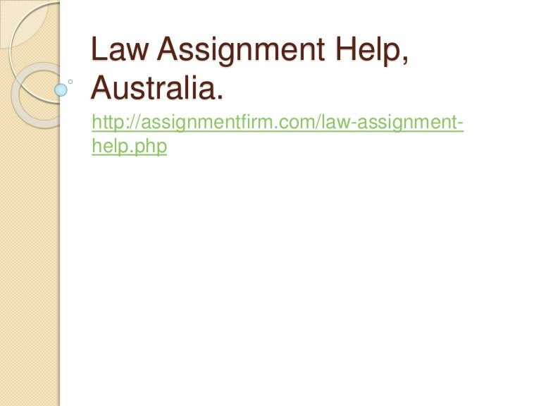 Law Assignment Help Australia & Writing Services [25% OFF]