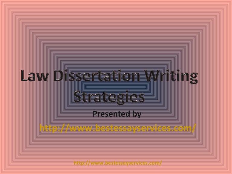 Writing law dissertations