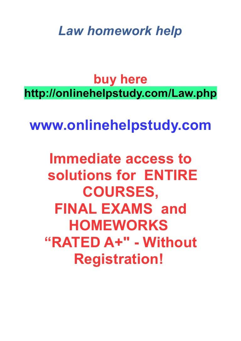 Law homework help