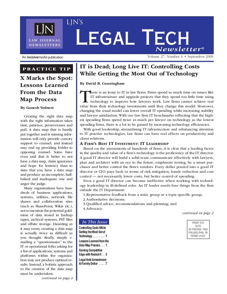 Law journal news it is dead article long live it controlling costs fandeluxe Images