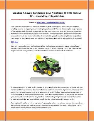 Lawn mower repair utah