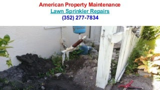 Lawn sprinkler repairs spring hill florida