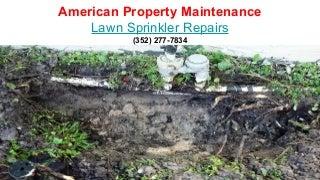 Lawn sprinkler repairs wesley chapel florida