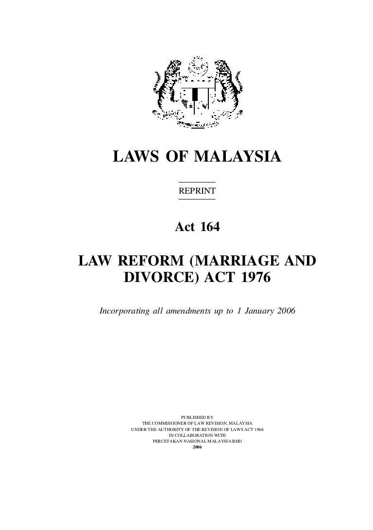 should we reform divorce laws