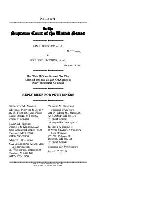 Lawyers argue for gay nuptials in final supreme court briefs