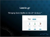 The launch of laxeio.gr