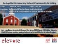Layfayette Elementary School Community Meeting Flyer (March 9, 2016)