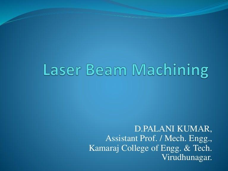 laser beam machining process pdf