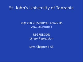 SJUT/Mat210/Regression/Linear 2013-14S2