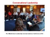 Talk on Conversational Leadership at LCME 2014