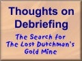 Debriefing Experiential Team Building Exercises - Overview using Lost Dutchman's Gold Mine