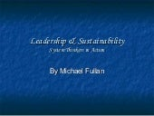 Leaderhship and sustainability