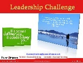 Delft University Graduate School - Leadership challenge plus bonus slides