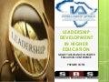 Leadership Development in African Higher Education