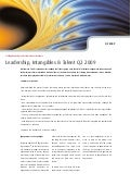 Leadership, Intangibles & Talent Q2 2009   Four Groups