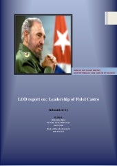 Leadership of Fidel Castro LOD project