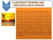 ICA Kenya introduces Leadership Training and Integrated Development.