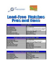 RoHS PCB Finishes - Lead Free Pros Cons