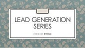 Lead generation series: Referrals REMIXED