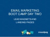 Lead magnet and landing pages