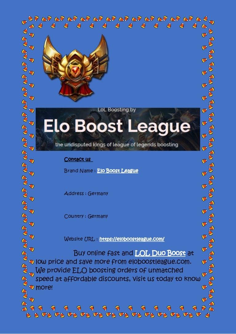 League of legends elo boosting
