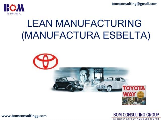 Lean Manufacturing - Manufactura Esbelta