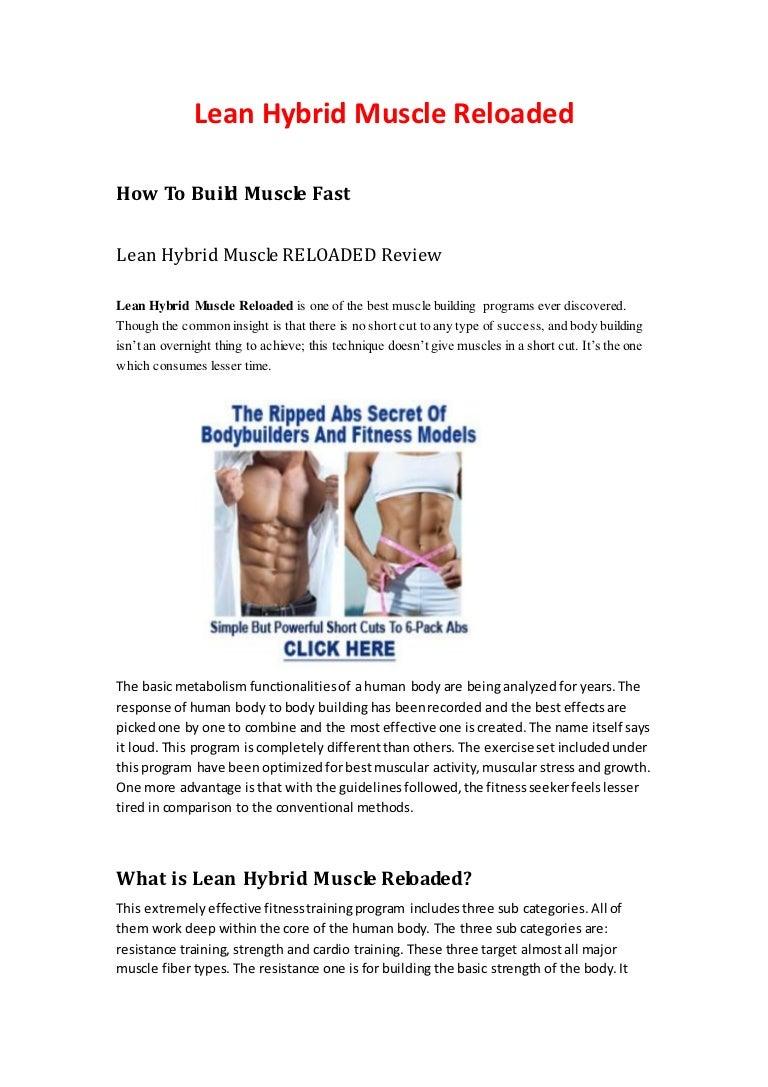 lean hybrid muscle reloaded training manual pdf free download