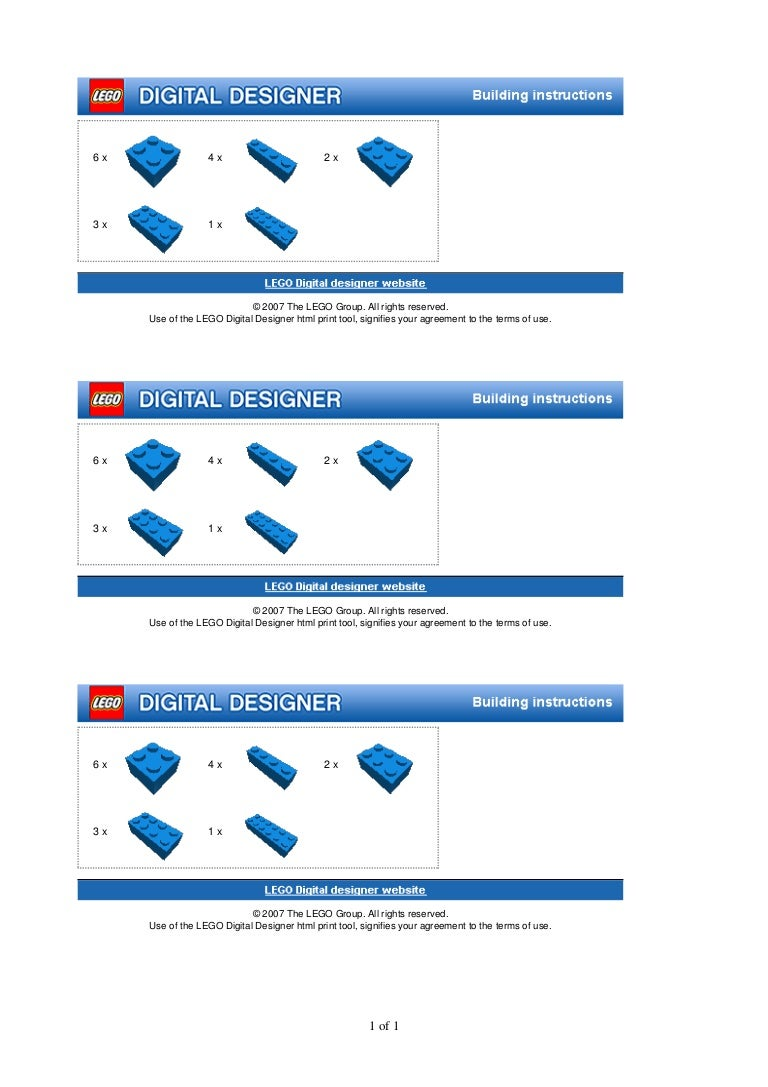 Lean Lego Game Specifications For Building Bricks