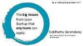 The big lesson from Lean Startup that ANY TEAM can apply