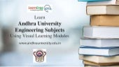 Learn andhra university engineering subjects using visual learning modules