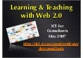 Learning & Teaching with Web 2.0 (2007)