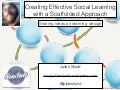 Creating Effective Social Learning with a Scaffolded Approach - LSG Webinar 2014
