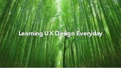 Learning UX Everyday