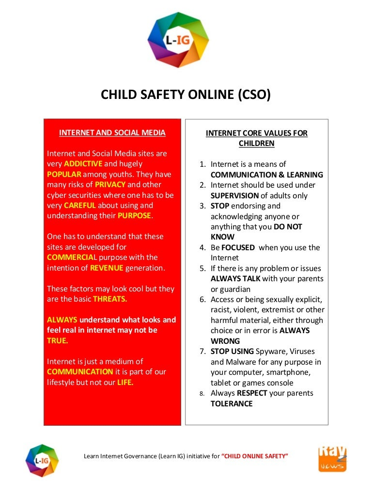 Learn internet governance initiative child online safety by shreedeep…