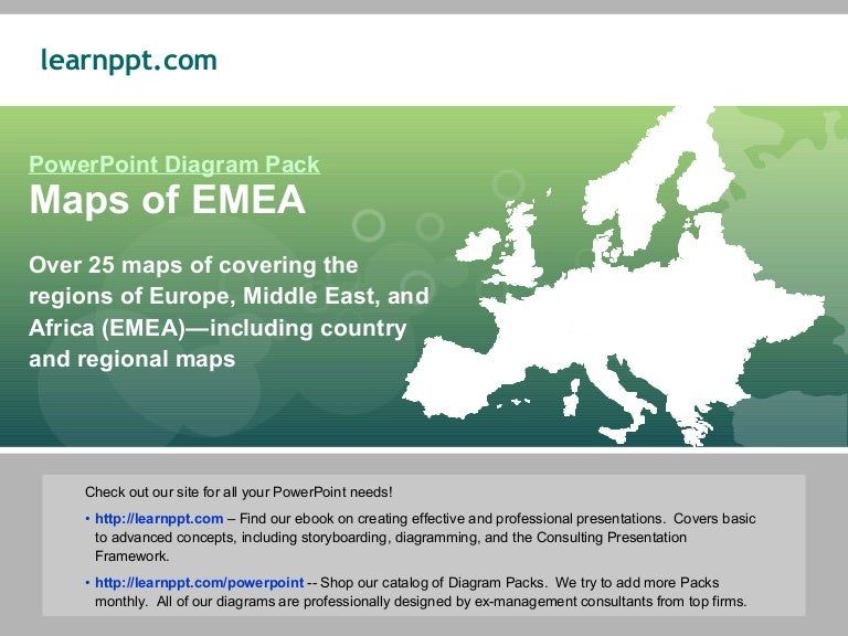 PowerPoint Maps of EMEA Europe Middle East Africa