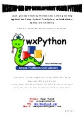 Wx python in action