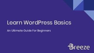 Learn WordPress Basics